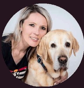 Barbara Białczyk z psem
